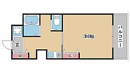 兵庫県神戸市中央区中山手通6丁目の賃貸マンションの間取り