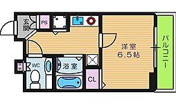 ジュネス東住吉[8階]の間取り