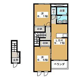アラ・モード[2階]の間取り