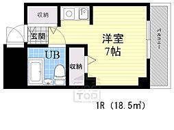 吉田マンション 1階ワンルームの間取り