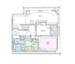 小田急小田原線 豪徳寺駅 徒歩3分の賃貸マンション 1階1Kの間取り