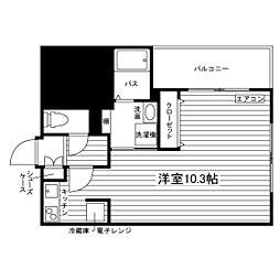 (仮称)久留米大前学生マンション 5階ワンルームの間取り