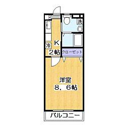 埼玉県草加市谷塚仲町の賃貸アパートの間取り