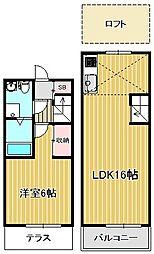 [テラスハウス] 神奈川県川崎市中原区上小田中7丁目 の賃貸【/】の間取り