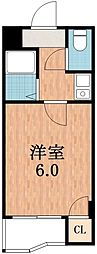 オーキッドコート阿倍野橋[5階]の間取り