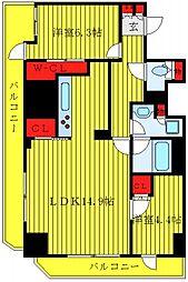 JR埼京線 板橋駅 徒歩9分の賃貸マンション 14階2LDKの間取り