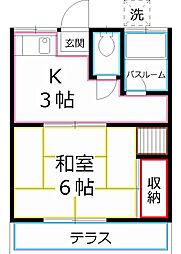 かんざき荘[2階]の間取り