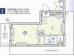 シンシア西大井[502号室]の間取り