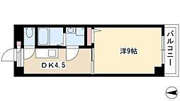 ソレイユ 2階1DKの間取り