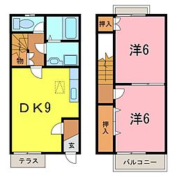 [テラスハウス] 愛知県刈谷市一色町1丁目 の賃貸【/】の間取り