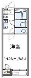 東京都調布市小島町3丁目の賃貸アパートの間取り