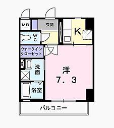 東京都府中市紅葉丘3丁目の賃貸マンションの間取り