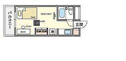 家具・家電付きメゾン・ド・祇園 A[2階]の間取り