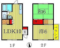 [テラスハウス] 千葉県松戸市小金原1丁目 の賃貸【/】の間取り
