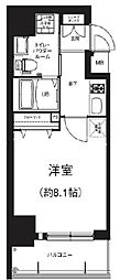 GRACE NORTH NISHITEMMA 6階1Kの間取り