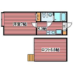 メゾンド・ショコラ[1階]の間取り
