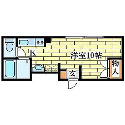 メゾン清田21[3階]の間取り