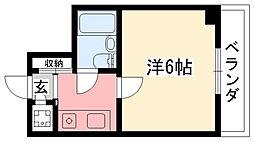 ホワイエ甲子園[3階]の間取り