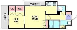 RJRプレシア南福岡[7階]の間取り