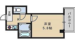 メゾンナカムラ[8階]の間取り