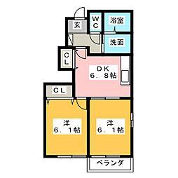 カーサグローリア A[1階]の間取り