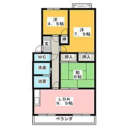 マンション花水木[1階]の間取り