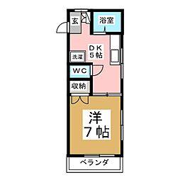 メゾンドショコラ[2階]の間取り