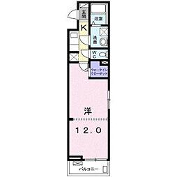JR東海道本線 平塚駅 バス21分 西真土下車 徒歩4分の賃貸アパート 3階1Kの間取り