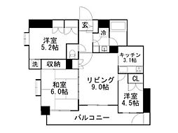 東京メトロ有楽町線 要町駅 徒歩7分の賃貸マンション 3階3LDKの間取り