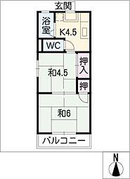 コーポちほ[2階]の間取り