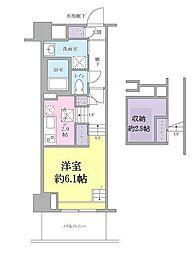 JR山手線 品川駅 徒歩13分の賃貸マンション 2階1Kの間取り