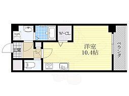 OT residence名駅 4階ワンルームの間取り
