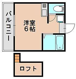ラフィーネ25[1階]の間取り