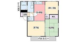 ウィンザム松本 B棟[102号室]の間取り