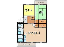 メゾン江坂[4階]の間取り