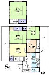 [一戸建] 千葉県八千代市八千代台東5丁目 の賃貸【/】の間取り