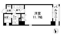 TINO汐留 3階1Kの間取り