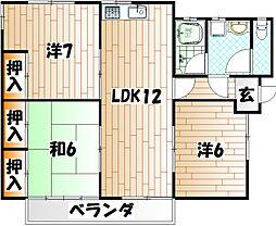 [一戸建] 福岡県北九州市門司区高砂町 の賃貸【/】の間取り