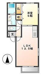 フローラ東山[2階]の間取り