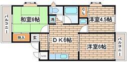 ビラ名谷[B205号室]の間取り