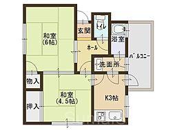 金岡マンション[2階]の間取り