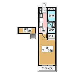 パルテノン福田町[2階]の間取り
