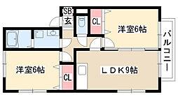 愛知県名古屋市緑区浦里5丁目の賃貸アパートの間取り