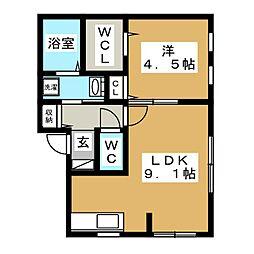 北海道札幌市中央区南十六条西15丁目の賃貸マンションの間取り
