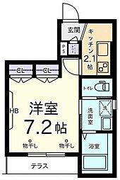 メゾン オーク[1階]の間取り