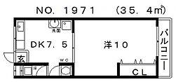 GS阿倍野[306号室号室]の間取り