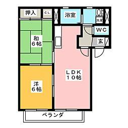 シンフォニーA棟[1階]の間取り