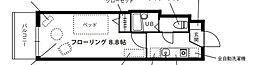 JR高崎線 尾久駅 徒歩4分の賃貸マンション 7階1Kの間取り