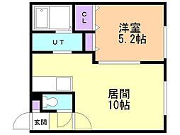 仮)ラ・シュエット上江別西町 1階1LDKの間取り