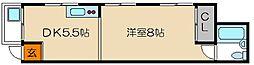 コーポ浄土寺[2階]の間取り